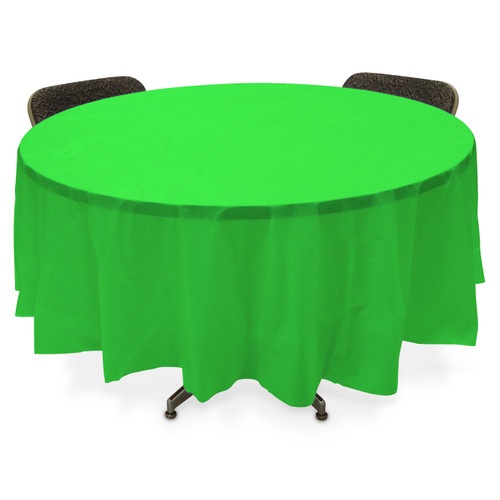 Plastic Table Cover Round -Lime