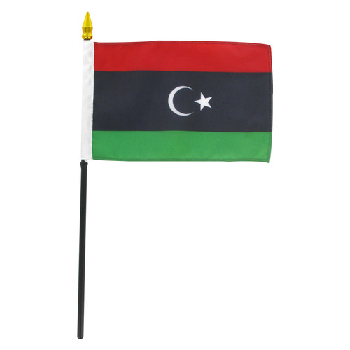Libya 4in x 6in Stick Flag