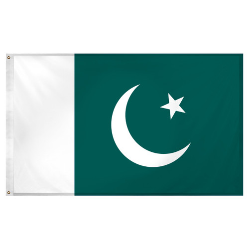 Pakistan flag 3ft x 5ft Super Knit Polyester