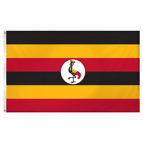 Uganda flag 3ft x 5ft Super Knit Polyester