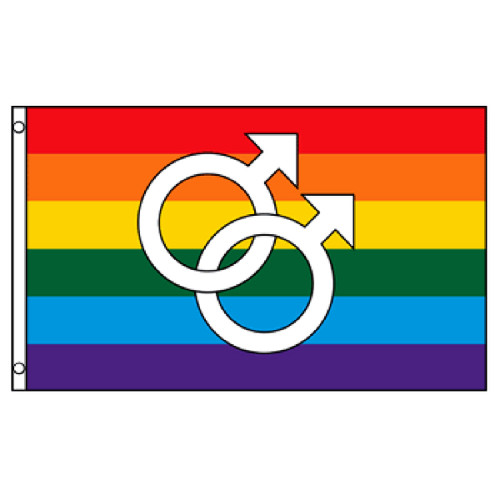 Double Mars Rainbow Flag 3ft x 5ft Printed Polyester