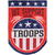 Carson Patriotic Applique Banner Flag - Troop Support