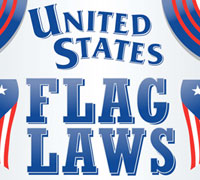United States Flag laws Info Graphic