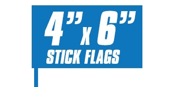 4x6 Inch Stick Flags