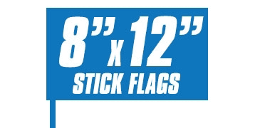 8x12 Inch Stick Flags