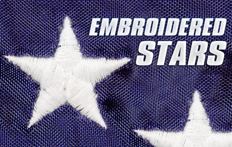 Embroidered Stars