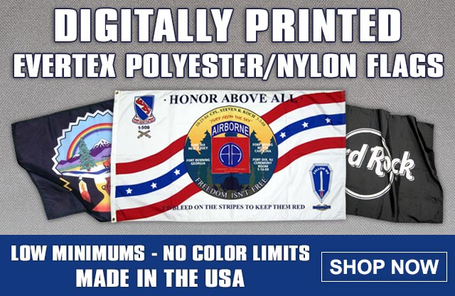 Digital Printed Evertex Polyester Flags
