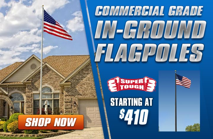 Super Tough Commercial Grade Flagpole starting at $410.00