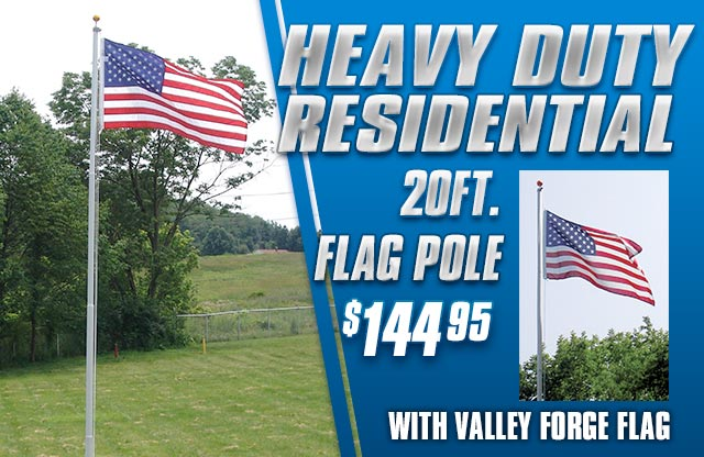 20ft. Heavy Duty Flag Pole