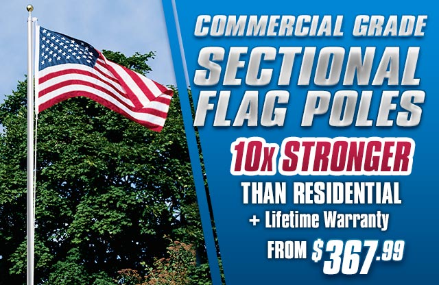 Commercial Grade Sectional Flag Poles