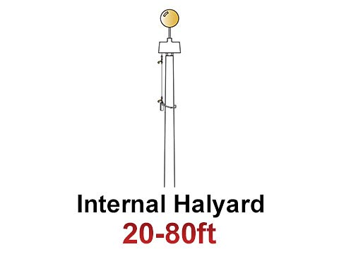 Internal Halyard Commercial Flagpoles