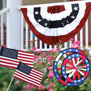 The Flag and Patriotic Decorations