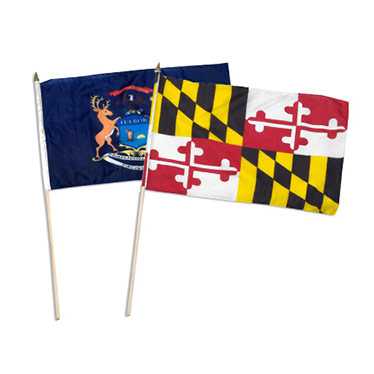 State Stick flags 12
