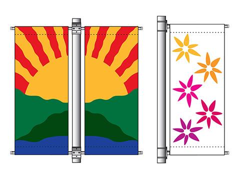 Street (Avenue) Flagpoles