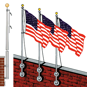 Vertical Wall Mounted Flag Poles