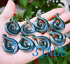 Jade Twist Swirl Pendant