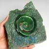 Natural Green Nephrite Jade Koru Sculpture New Zealand Maori Style Carving / Art  -J026087