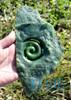 Green Nephrite Jade Koru Sculpture Statue NZ Maori Design Carving