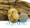 Hetian jade bird pendant