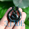 Maori Jade Eternity Twist Pendant Necklace