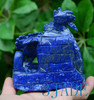 Hand Carved Natural Lapis Lazuli Bamboo Shoot & Cicada Statue