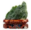 green nephrite jade viewing stone