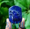 Lapis Lazuli Wolf Pendant