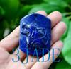 Lapis Lazuli Wolf Necklace