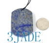 Natural Lapis Lazuli Wolf Head Pendant Necklace Gemstone Carving
