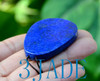Natural Lapis Lazuli Lotus Mandarin Duck Pendant Carved Lovebirds Necklace