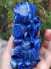 Natural Lapis Lazuli Koi Fish Mandarin Duck Sculpture Lovebirds Statue