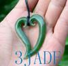 Jade Maori Koru Heart Pendant