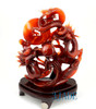 Carnelian / Red Agate Playing Dragons Playing with Fire Ball