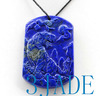 Lapis Lazuli  Tiger Pendant Necklace
