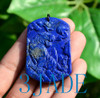 Carved Lapis Lazuli  Tiger Pendant Necklace