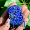 Hand Carved Lapis Lazuli  Tiger Pendant