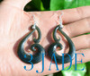 nephrite jade Koru earrings