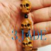 Olive Pit Skull Beads