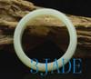 65mm Natural White Nephrite Jade Bangle Bracelet D Shape Large Size Chunk Bangle w/ Certificate