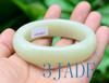 60mm Natural Creamy White Nephrite Jade Bangle