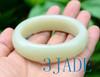 60mm Creamy White Jade Bangle