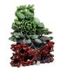 Chinese Jade Flower Sculpture