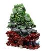 Green Jade Flower Sculpture