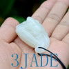 White Nephrite Jade Lotus Seed Pod w/ Frog Pendant Necklace Hetian Jade Carving w/ certificate