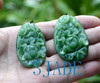 Hand Carved Jade Peony Flower Necklace