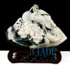 Dushan Jade Bird Flower Carving