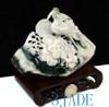 Dushan Jade Stone Bird Flower /Phoenix Peony Sculpture/Statue/Carving