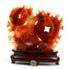 red agate gold fish sculpture