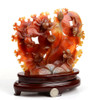carnelian gold fish sculpture