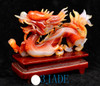 Red Agate Dragon Sculpture